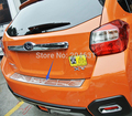 For 2012 2013 2014 SUBARU XV High quality stainless steel Rear bumper Protector Sill fast air ship