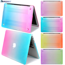 Laptop New Rainbow color For Apple MacBook Air Pro Retina 11 12 13 15 for mac book Pro13.3 15.4 Air 13 Touch ID Air13 A1932 Case