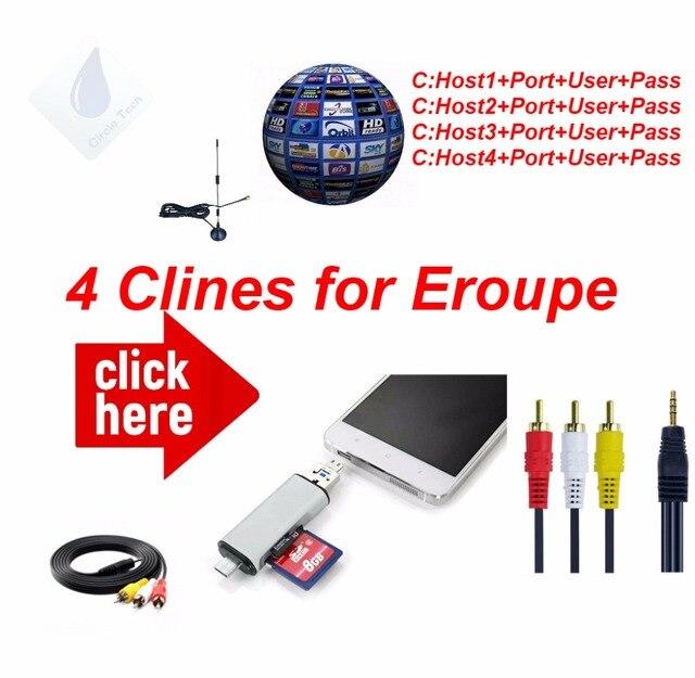 Freesat AV Cable Digital Satellite TV Receiver DVB-S/S2 HD AV Cable 1 Year cccam 4Lines europe Germany Poland Spain UK France