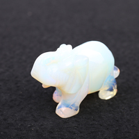 Crystal Elephant Stone Figurine Chakra Stones Healing Feng Shui Natural Hand Carved Opal Stone Lucky