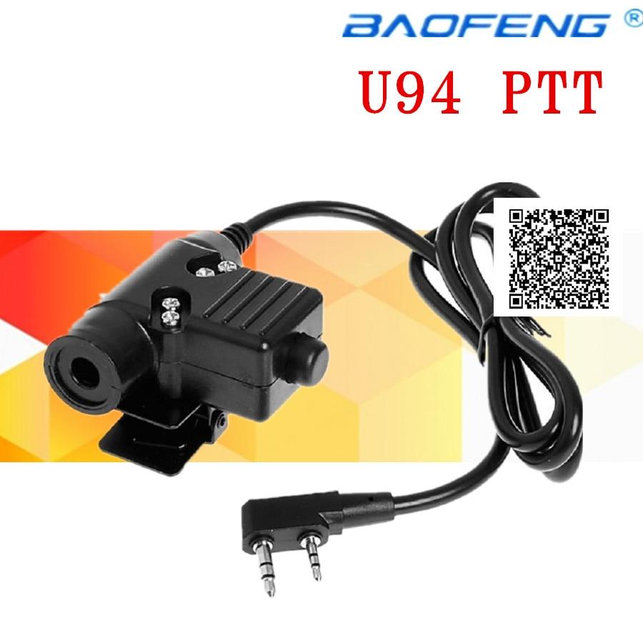 imágenes para U94 PTT Cable para Z Táctica Bowman Elite II HD01 HD02 hd03 headset auricular para kenwood baofeng uv-5r de radio uv-82 cb gt-3 Radio