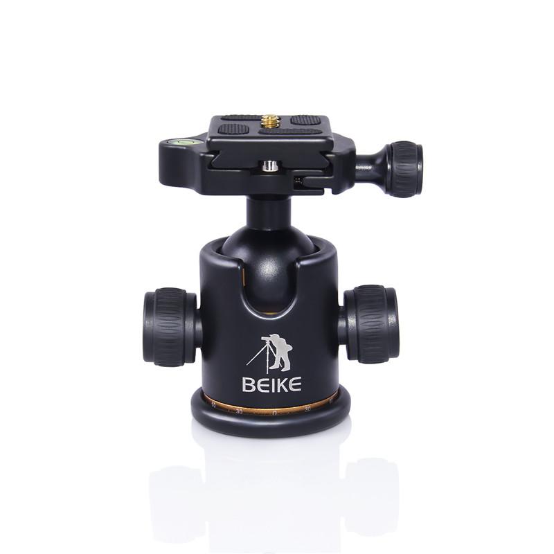 """Prix pour Beike Bk-03 Trépied Rotule avec Quick Release Plate 1/4 """"vis et Deux niveaux pour Trépied manfrotto DSLR Caméra charge Max 8 kg"""