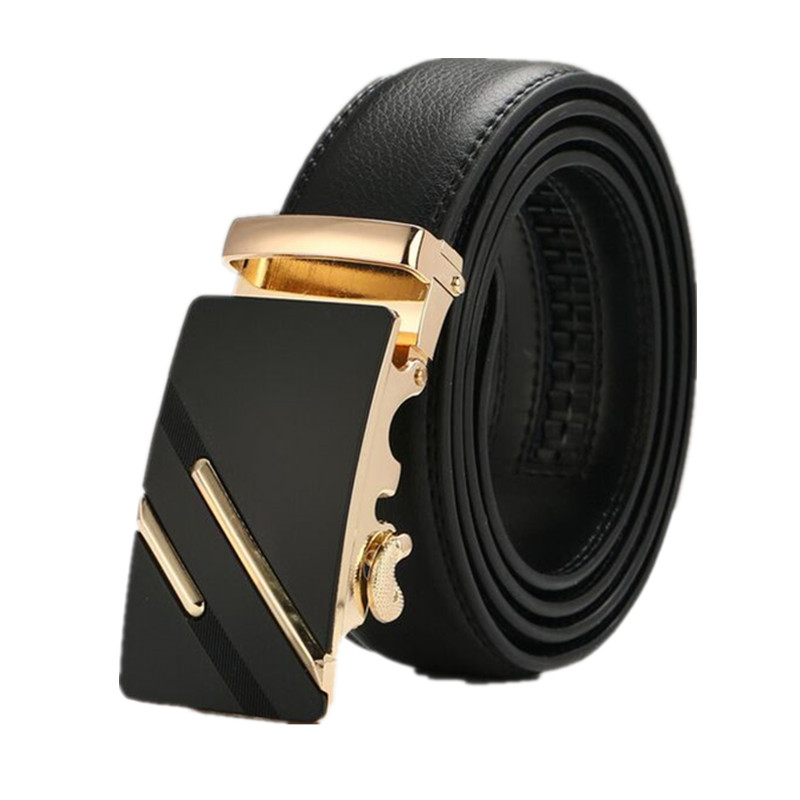 leather strap male automatic buckle belts for men authentic girdle trend men's belts ceinture Fashion designer women jean belt 4