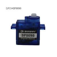 5PCS K power DP0090 9g 360 Degree Continuous Rotation Micro Plastic Servo