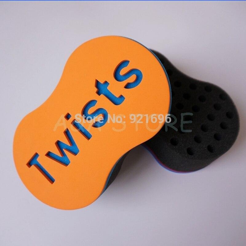 2015 NEW color: Orange Hair Twist Sponge For Natural Curl & Twist Styles Coils Dreadlocks Twists Sponges  цены