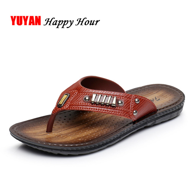 67c9bc1dd1d4 New 2019 Summer Slippers Men Flip Flops Thick Sole Non-slip Beach Slippers Men s  Flip Flops High Quality ZHK190