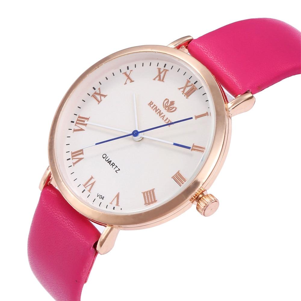 Women's Girls Fashion Watch Leather Strap Analog Quartz Glass Mirror Watches  Hot Sale Women Watch Reloj Mujer Zegarek Damski