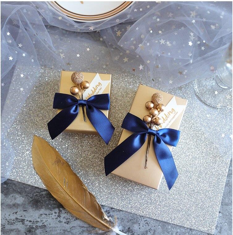 Ev ve Bahçe'ten Hediye Çantalar ve Sarma Malzemeleri'de Ücretsiz Kargo 50 adet Düğün favor altın boncuk aşk meyve çiçek sevimli yaratıcı yıldızlı gökyüzü mavi şeker kutusu bir hediye kutuları konuk için'da  Grup 1