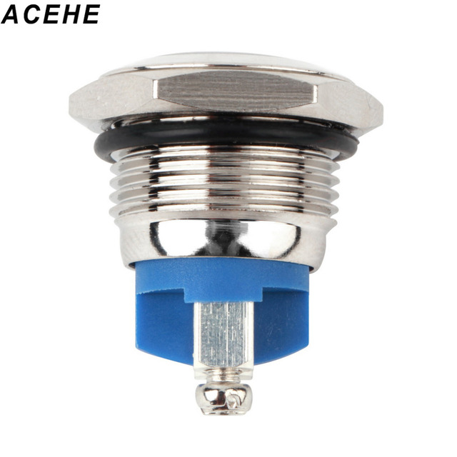 2017 New Free Shipping 16mm Start Horn Button Momentary Stainless Steel Metal Push Button Switch Hot Worldwide