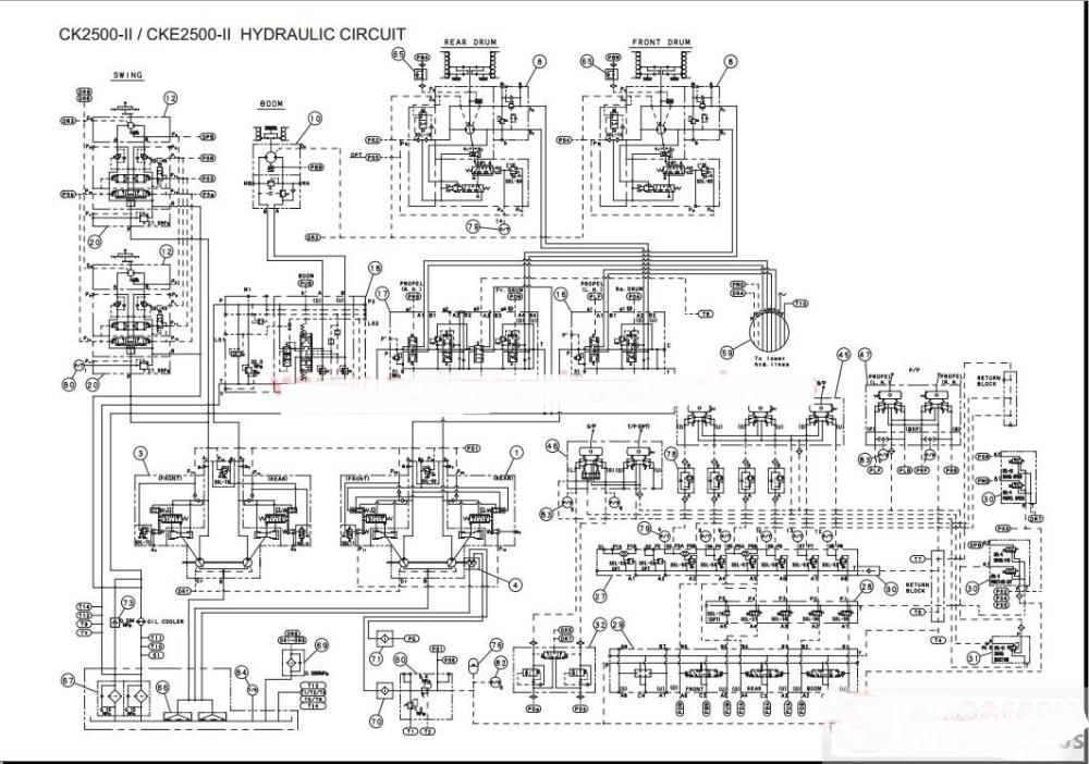 sany excavator wiring diagram