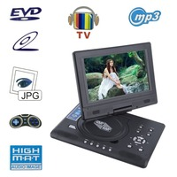 FJD 998 Portable 9 Inch TFT LCD Screen Mobile DVD Player Digital Multimedia Player 270 Degree Rotation Screen EVD US plug!!