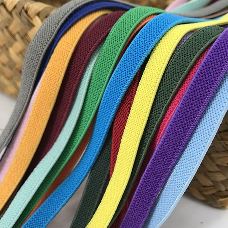 1cm Rubber Band Color Bias Twill Elastic Band Double Sided