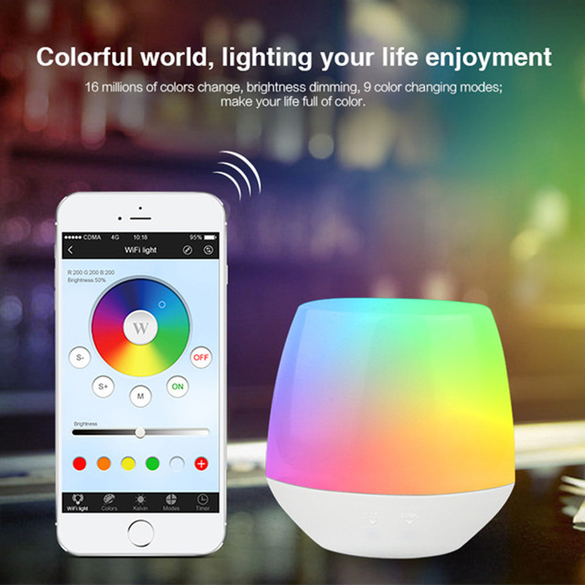 US $20 6 |DC5V Mi light 2 4G Wireless Wifi iBox Led Controller Dimmer APP  iOS Android Remote Control RGB LED Bulb lamp Night-in RGB Controlers from