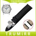 18mm 20mm 22mm Venda de Reloj de Cuero Genuino de La Correa de Liberación Rápida para Longines Master Insignia Conquista Hebilla de Mariposa pulsera