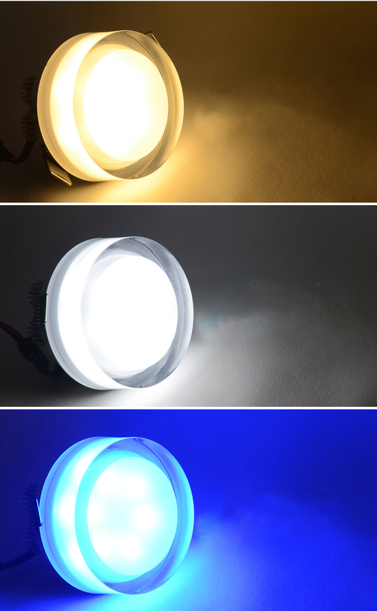Hot Sale 7W Crystal Acrylic LED Recessed Ceiling Light Cabinet Fixture Lamp Bulb hot sale c shaped waterfall acrylic occasional side table