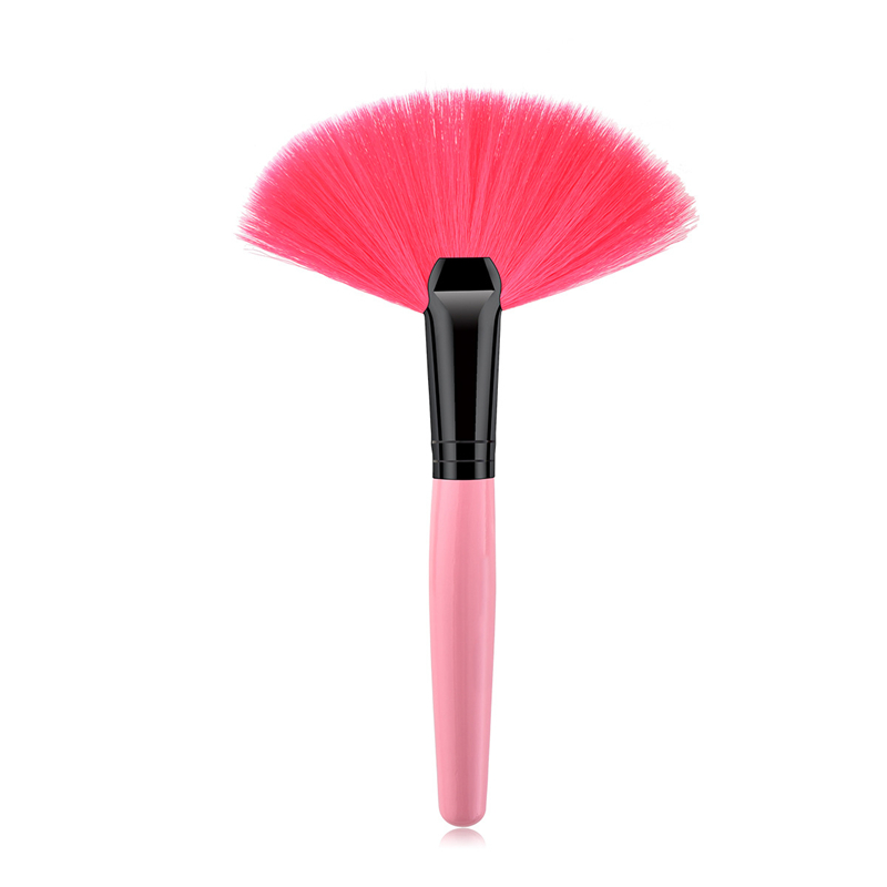 Image 3 - 1Pcs Soft Makeup Large Fan Brush Foundation Blush Blusher Powder Highlighter Brush Powder Dust cleaning brushes Cosmetic Tool-in Eye Shadow Applicator from Beauty & Health