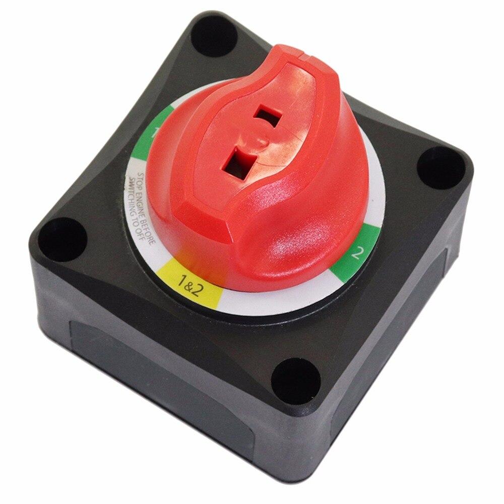 Sélecteur de batterie 1-2-les deux-OFF avec AFD pour 2 batteries ou plus