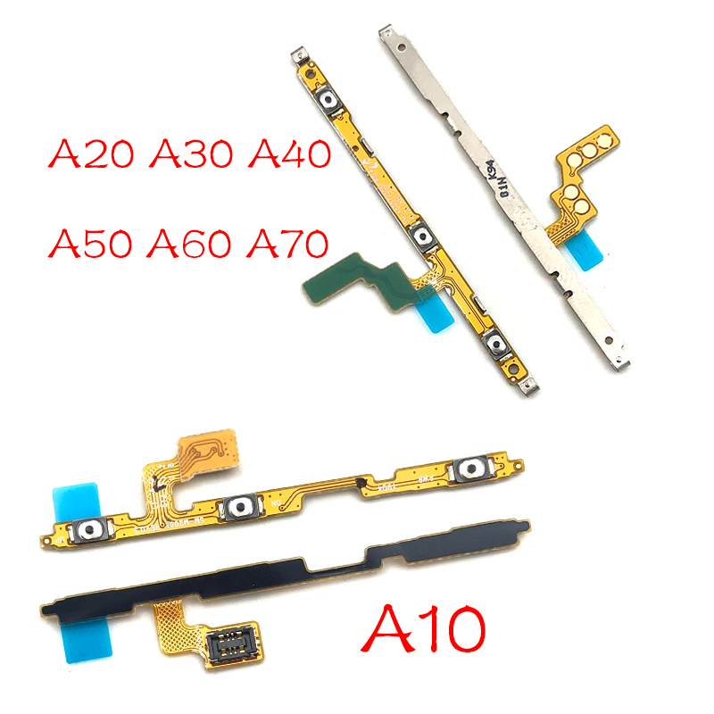 Power On Off Volume Side Button Key Flex Cable Replacement Parts For Samsung A10 A20 A30 A50 A60 A70