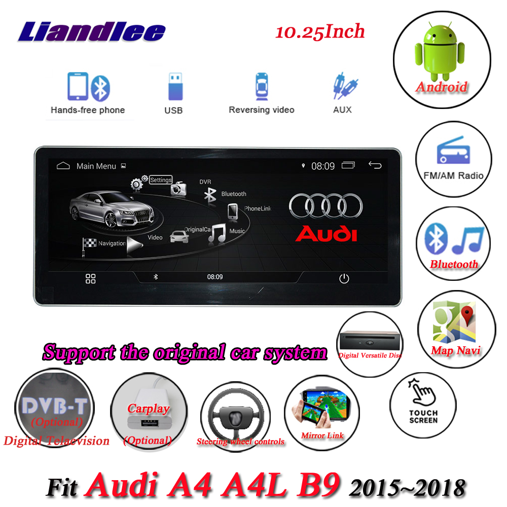 купить Liandlee Car Android System For Audi A4 A4L B9 2015~2018 Radio TV Carplay Wifi GPS Navi Navigation Screen Multimedia CD DVD Play по цене 44062.38 рублей