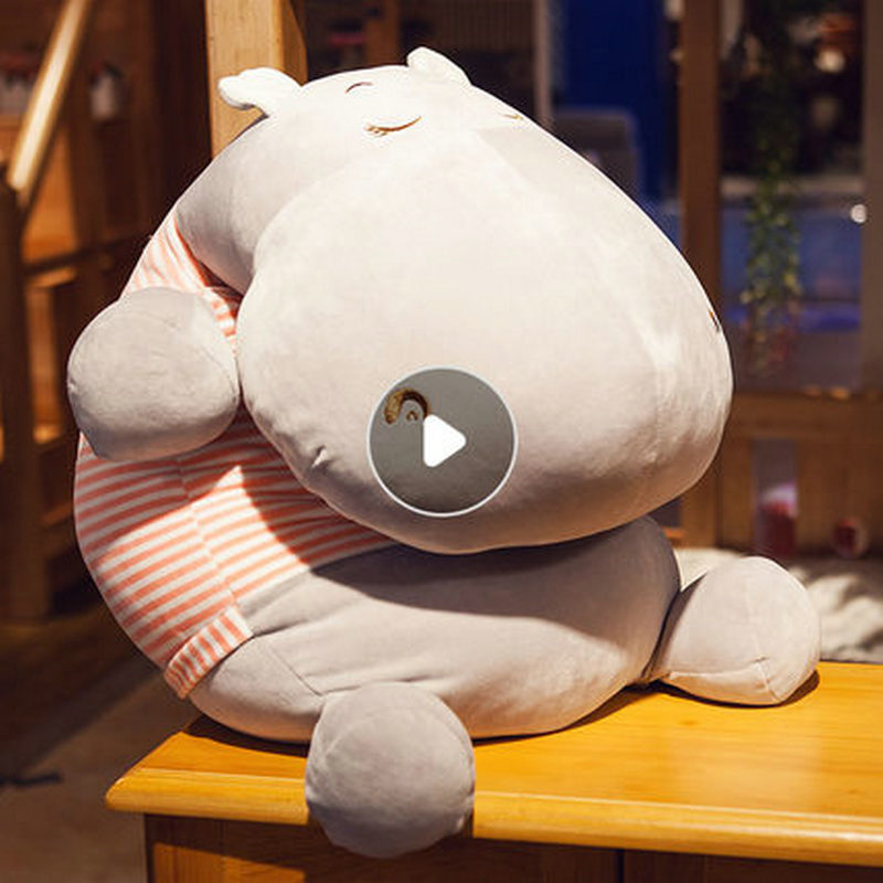 95cm Soft Hippos Plush toys Cartoon Hippopotamus Dolls Sofa Pillows Animal cushions Babys Birthday Present95cm Soft Hippos Plush toys Cartoon Hippopotamus Dolls Sofa Pillows Animal cushions Babys Birthday Present
