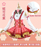 Anime Love live Flower Bouquet Nico Yazawa Cosplay Costume Halloween and Christmas Beauty Women Cosplay Dresses+Headdress+Socks