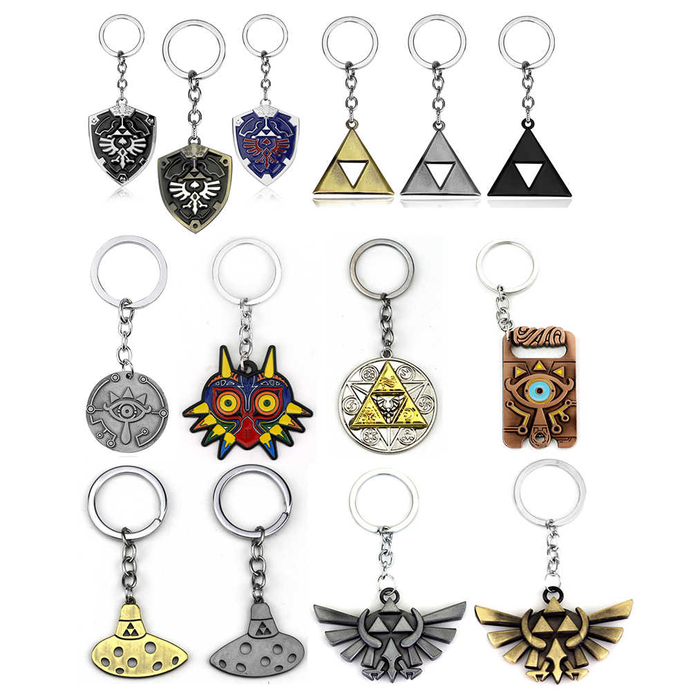 Hot Game Legend Of Zelda Key Chains Holder Fashion Vintage Metal Alloy Keychains Keyring Jewelry Graduation Gift Best Friend