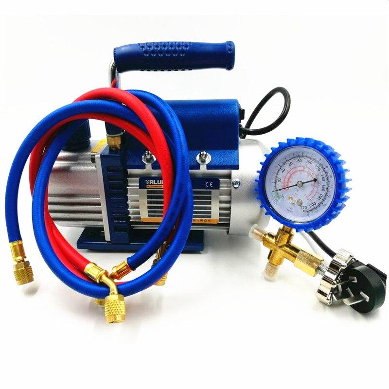 150W Pompa Vakum FY-1H-N AC Tambahkan Fluoride Alat Vacuum Pump Set dengan Refrigerant Tabel Pengukur Tekanan Refrigerant Tabung