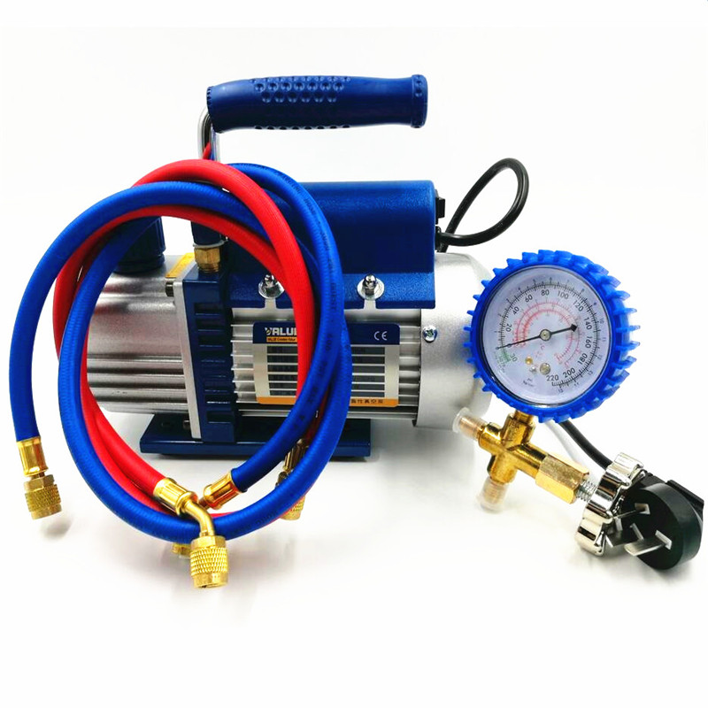 150W Vacuum Pump FY-1H-N Air Condition Add Fluoride Tool Vacuum Pump Set With Refrigerant Table Pressure Gauge Refrigerant Tube