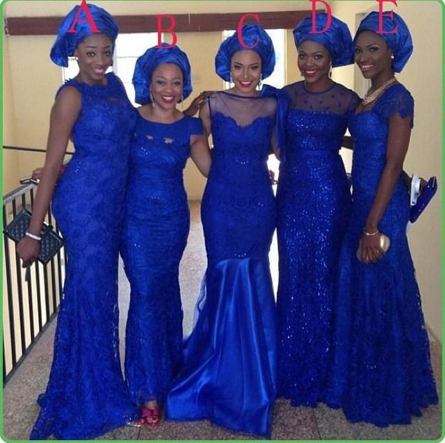 2016 Royal Blue Mix Styles Bridesmaid Dresses Scoop Mermaid Cheap  Bridesmaid Gowns With Beaded Formal party Prom Dress B73 686dc2169e85
