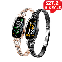 H8 Smart Bracelet Women Wristband Blood Pressure Heart Rate Monitor Fitness Tracker IP67 Waterproof Smart Band Female Smartwatch