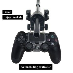 Image 2 - LOMINT נרגילה צינור מחזיק נרגילות אלומיניום ידית מחזיק עבור PS4 Slim פרו משחק בקר Chicha Narguile אביזרי עישון