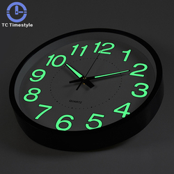 12 inches 30CM Night Wall Clock Quartz Watch Bedroom Table Simple Clock Custom Mute Personality Home Decorative Fashion Needle
