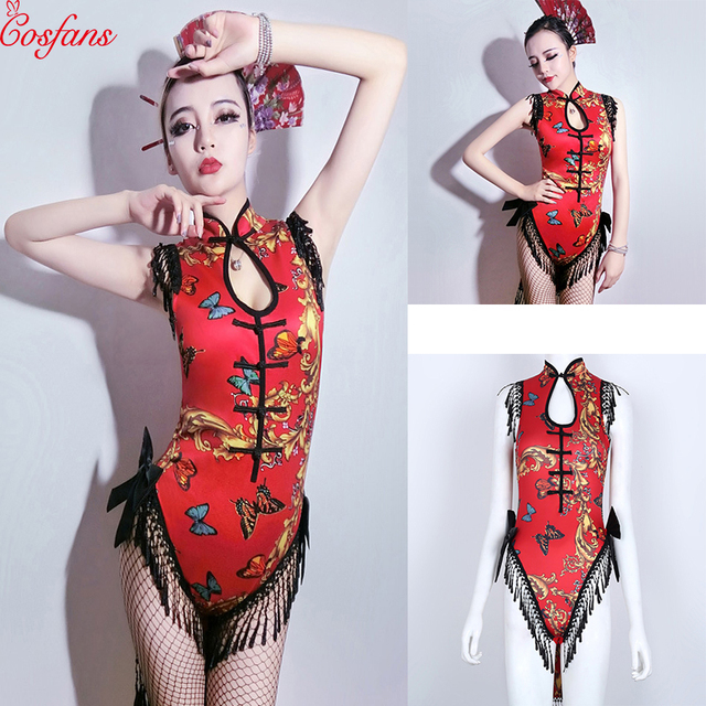 1f9ad3540 Love Live cos Cheongsam cosplay costume women DJ women singer retro  cheongsam Cos clothing bar DS geisha performance sexy dance