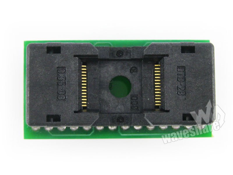 TSOP28 TO DIP28 # TSSOP28 Enplas IC Test Socket Programming Adapter 0.55mm Pitch parts t13 adpii attiny13 attiny12 attiny15 attiny25 attiny45 soic8 208 mil avr enplas programming adapter test socket