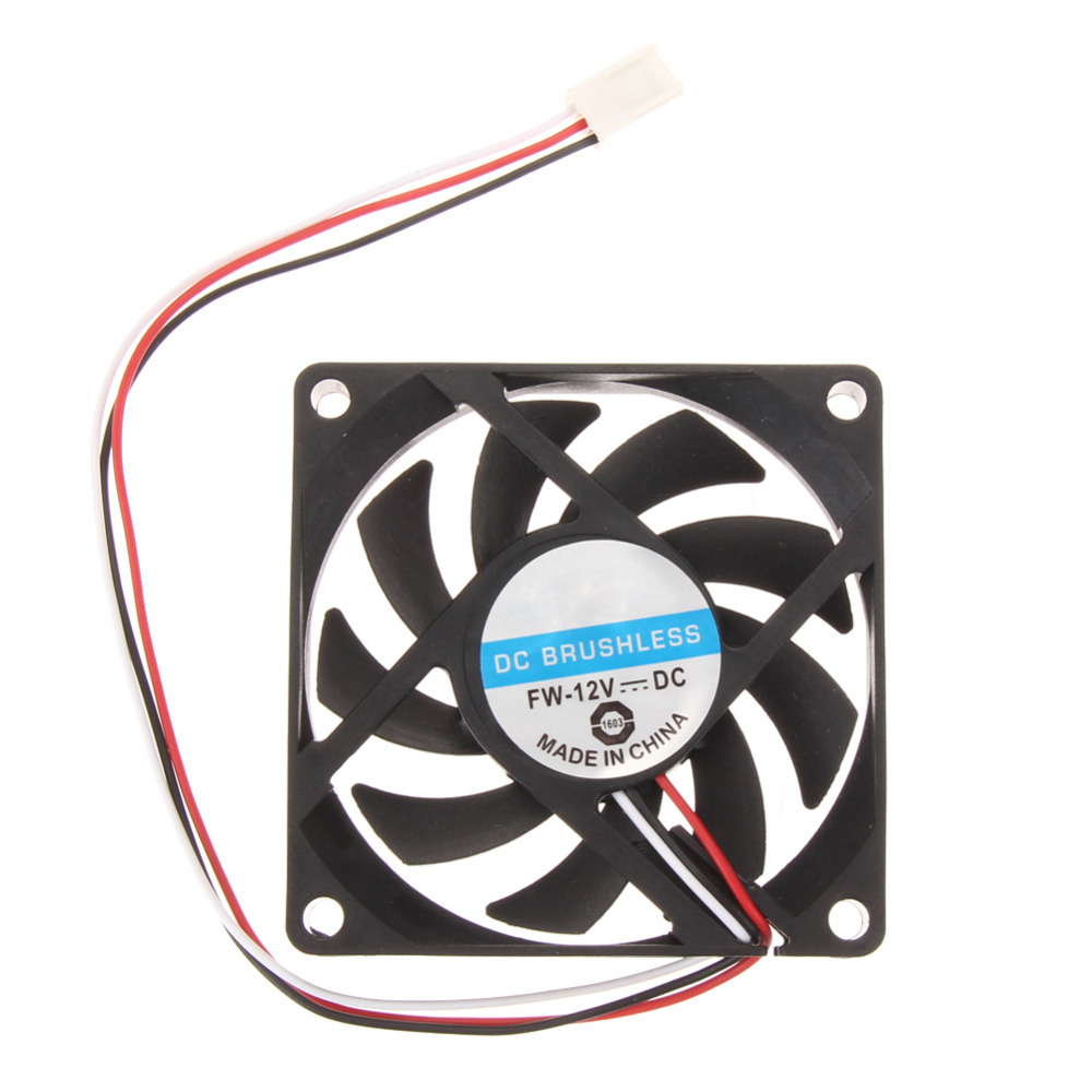 70x70x15mm DC 12V 3pin Portable Computer Cooler Small PC CPU Cooling Fan Heat sink aerocool 15 blade 1 56w mute model computer cpu cooling fan black 12 x 12cm 7v