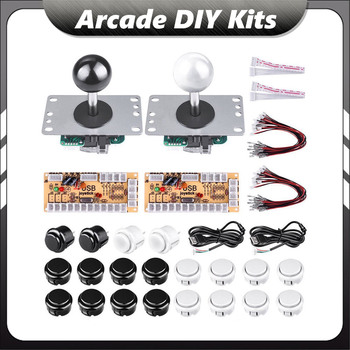 Arcade Joystick DIY Kit Set Zero Delay USB Encoder to PC Sanwa