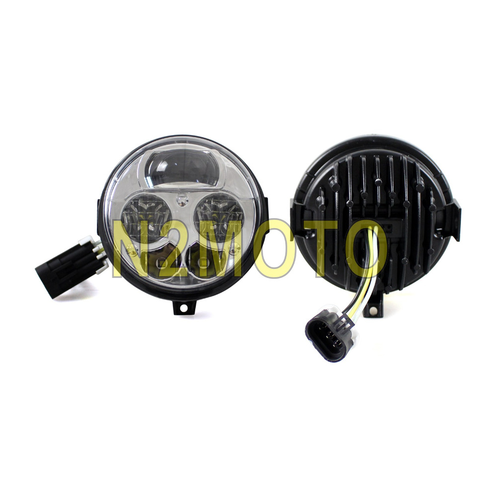2pcs Utv Led Headlight High Low Beam Front Light For Kawasaki Teryx 2015 Wiring Schematic Atv Custom 4 750 Eps Le 2012 2014