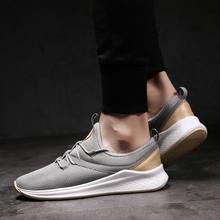2019 Fashion Trendy Men Shoes Light Comfortable Breathable Mens Sneakers Walking Run Summer Flyknit Lace-up Casual