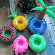 19 Color Mini Floating Cup Holder Pool Swim Ring Water Toys Party Beverage Boats Baby Pool Toy Inflatable Drink Holders swimring(China)