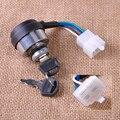 Nova Chave De Ignição 4 Fios com 2 chaves Porta fechaduras Apto para Gerador A Gasolina 2KW 3KW Chinês 168F 170F Keylock