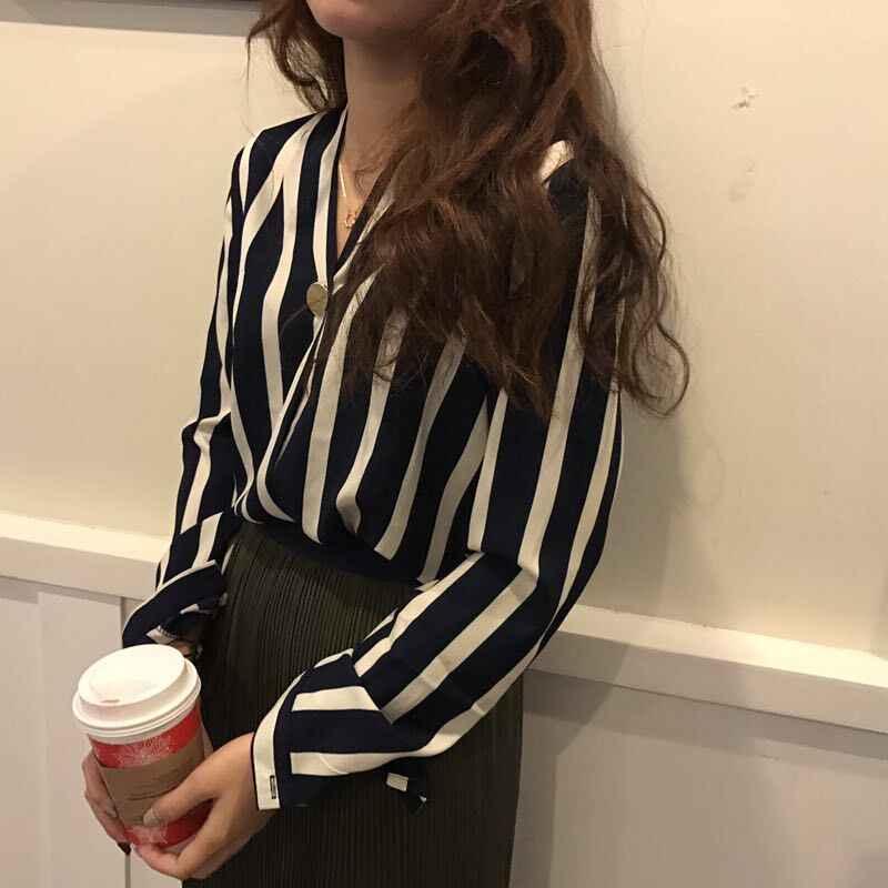 رخيصة بالجملة 2019 جديد ربيع الخريف الشتاء الساخن بيع المرأة موضة السيدات قمصان عادية A268