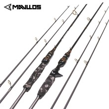 Mavllos Camouflage 2 Tips Carbon Spinning Fishing Rod 1.8m Section Lure Weight 3-21g Fast Action Saltwater Casting