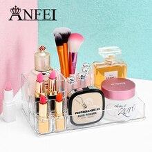 ANFEI High Quality Transparent Acrylic Makeup Jewelry Cosmetic Storage Display Box Lipstick Holder Jewelry Stand Rack Organizer