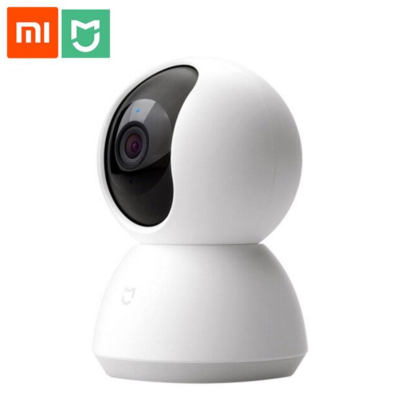 Xiao mi mi Inteligente Na Webcam Popular Versão 360 HD 1080P Ângulo de Visão Noturna Sem Fio Wi-fi IP Webcam Em Casa Inteligente cam APLICATIVO Para casa inteligente