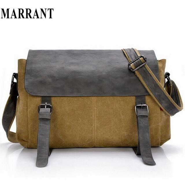 High quality canvas +leather men postman bag wholesale messenger bag vintage  canvas shoulder belt bags travel bags for men women bf0deda7e6355