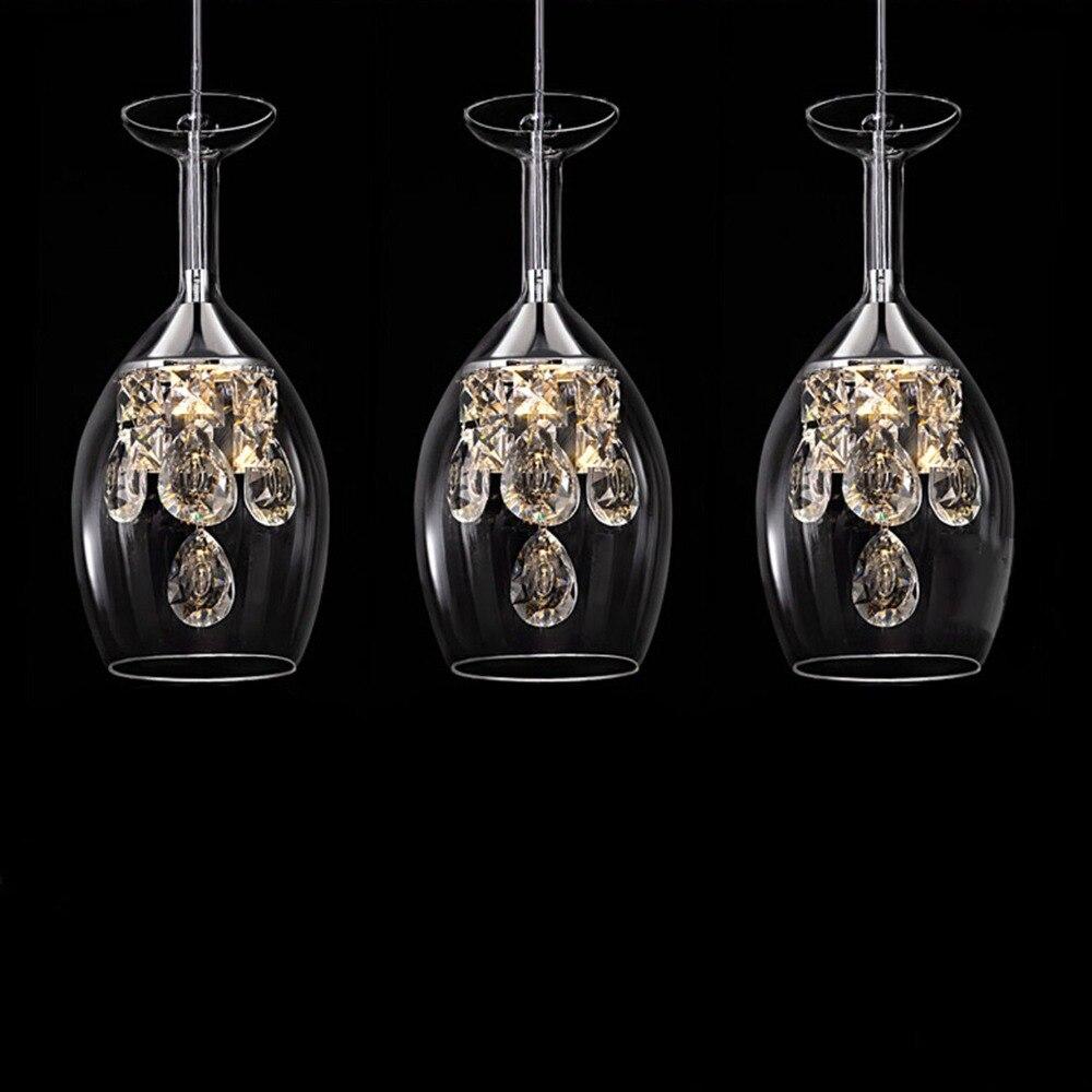 Verre verres suspendus lumières lumière led hanglamp loft décor lampes luminaires suspendus lampe salon chambre salle à manger