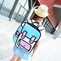3D Женщины Причинно Рюкзак Смешные школьные сумки для девочек симпатичный рюкзак Холст рюкзаки для девочек-подростков mochilas feminina L335