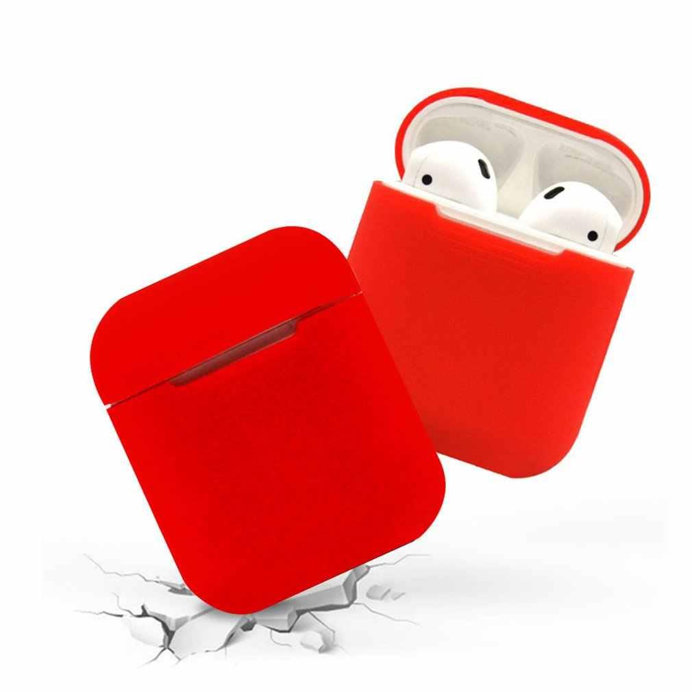 シリコーン TPU Bluetooth ワイヤレスイヤホンケース保護カバースキン Apple Airpods 充電ボックス/抗ロストストラップ