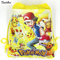 2016Pokemon Children schoolbag Cartoon pikachu kids drawstring backpacks cute for young bags backpack