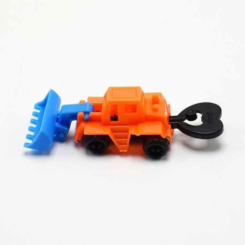 1 PC Mini Kendaraan Teknik Traktor Mobil Mainan Dump Truk Model Mainan Anak-anak Natal Hadiah Set Warna Acak